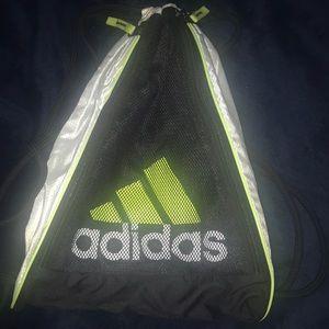 adidas sacchi bookbag verde poshmark cordoncino nero